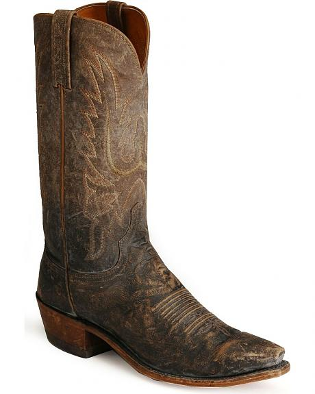 Lucchese Handcrafted 1883 Madras Mad Dog Goat Cowboy Boots