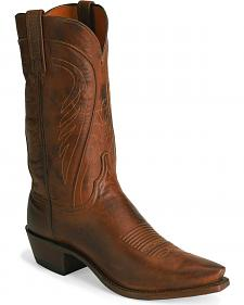 Lucchese Handcrafted 1883 Tan Ranch Hand Cowboy Boots