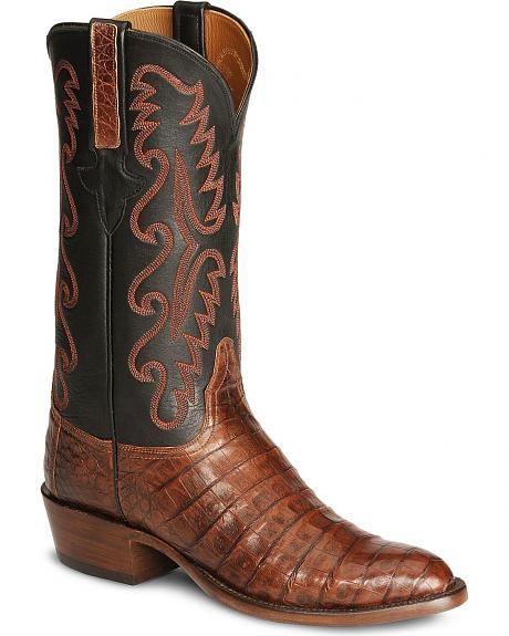 Lucchese Handcrafted Classics Caiman Ultra Belly Cowboy Boots - Medium Toe
