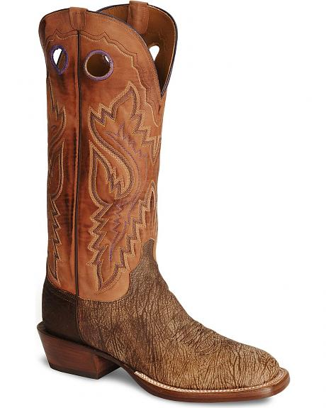 Lucchese Handcrafted Cowboy Tan Marsh Cowboy Boots - Wide Square Toe