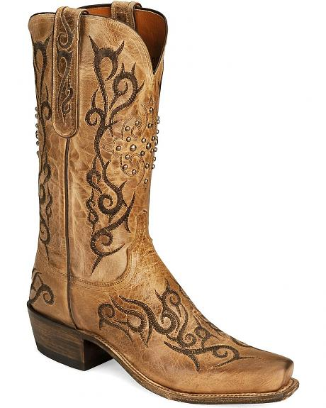 Lucchese Boots - Handcrafted 1883 Pearl Cowboy Boot - Square Toe
