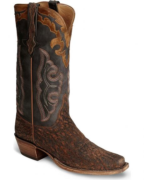 Lucchese Handcrafted Classics Sueded Elephant Cowboy Boots - Sq Toe