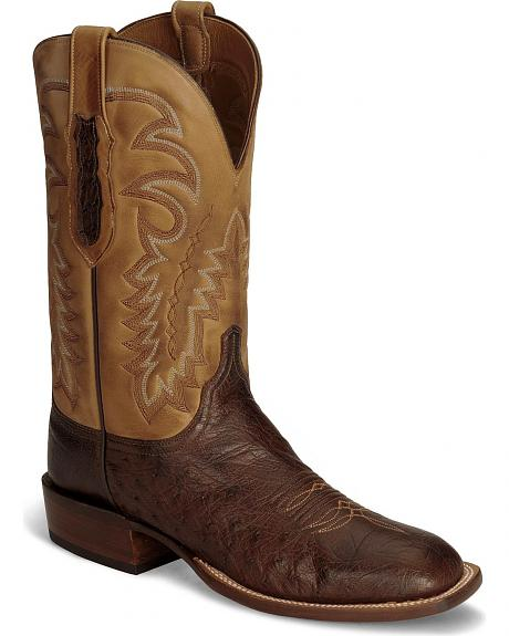 Lucchese Handcrafted Sienna Smooth Ostrich Cowboy Boots - Sq Toe
