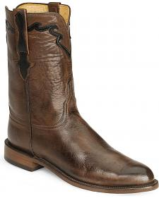 Lucchese Boots - Handcrafted Classics Whiskey Burn Baby Buffalo Roper Boot