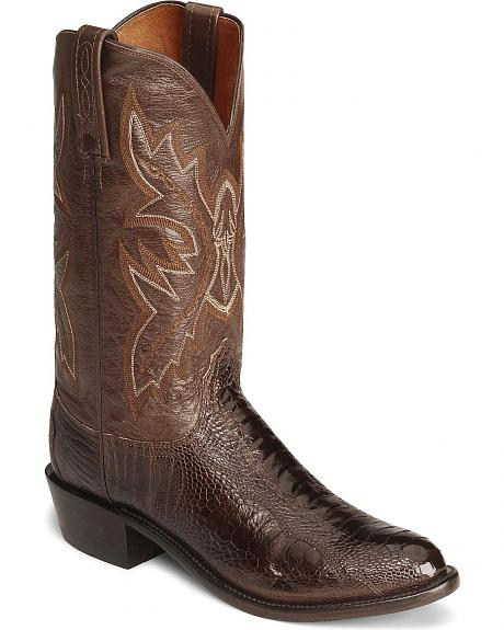 Lucchese Boots - Handcrafted 1883 Ostrich Leg Cowboy Boot - Round Toe