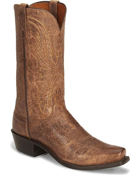 Lucchese Handcrafted  1883 Mad Dog Goat Cowboy Boots - Square Toe
