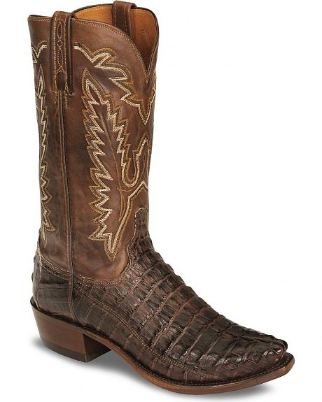 Lucchese Handcrafted 1883 Waxy Hornback Cowboy Boots - Snip Toe