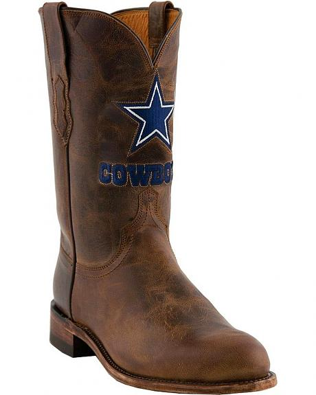 Lucchese Handcrafted 1883 Dallas Cowboys Mad Goat Roper Boots