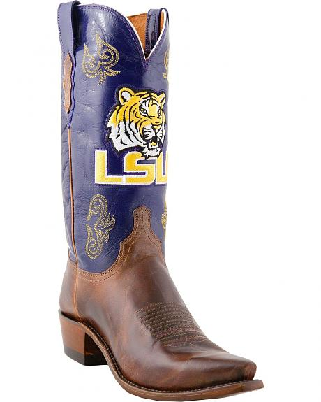 Lucchese Handcrafted 1883 LSU Mad Goat Cowboy Boots - Snip Toe