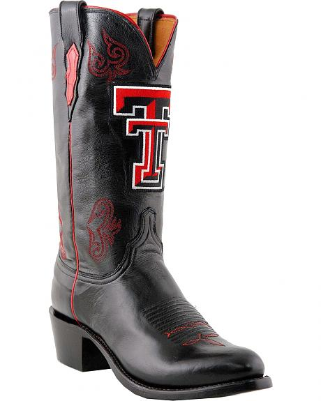Lucchese Handcrafted 1883 Texas Tech Lonestar Calf Boots - Round Toe