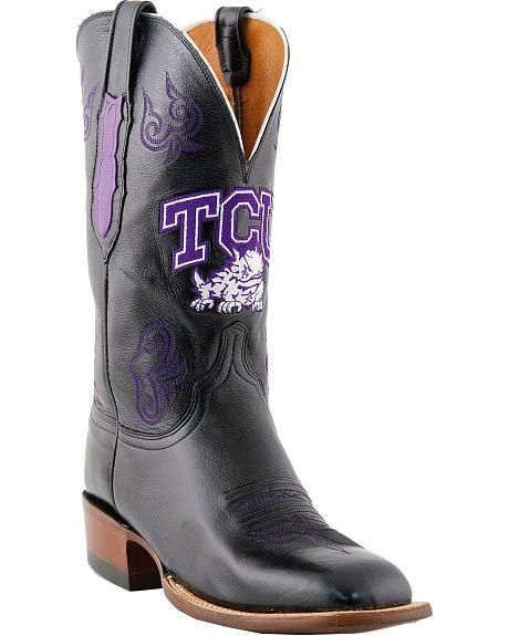Lucchese Handcrafted TCU Lonestar Calf Cowboy Boots - Square Toe