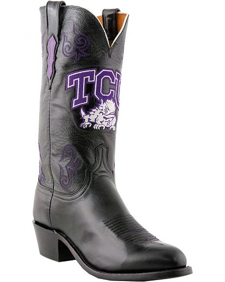 Lucchese Handcrafted 1883 TCU Lonestar Calf Cowboy Boots - Round Toe