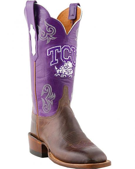 Lucchese Handcrafted 1883 TCU Mad Goat Cowboy Boots - Square Toe