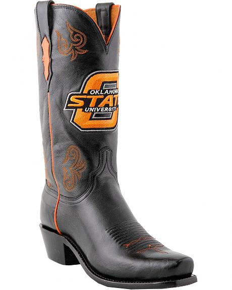 Lucchese Handcrafted 1883 OSU Lonestar Calf Cowboy Boots - Snoot Toe