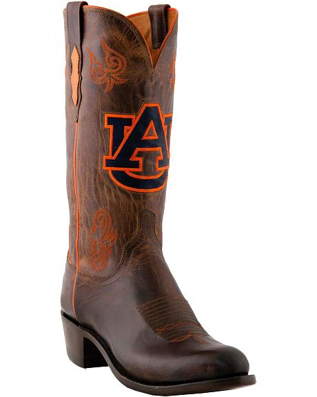 Lucchese Handcrafted 1883 Auburn Madras Goat Cowboy Boots - Round Toe