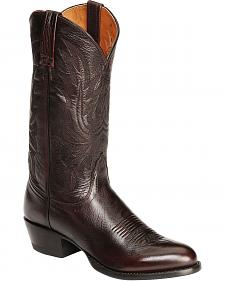 Lucchese Handcrafted Lonestar Calf Cowboy Boots - Medium Toe