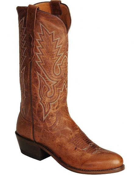 Lucchese Handcrafted 1883 Madras Goat Cowboy Boots - Round Toe