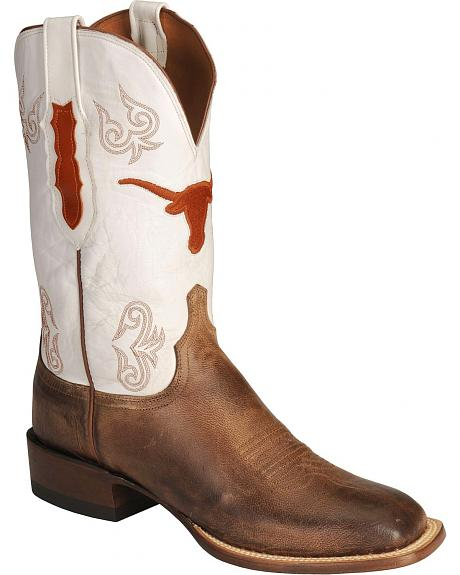 Lucchese Handcrafted 1883 University of Texas Madras Goat Cowboy Boots