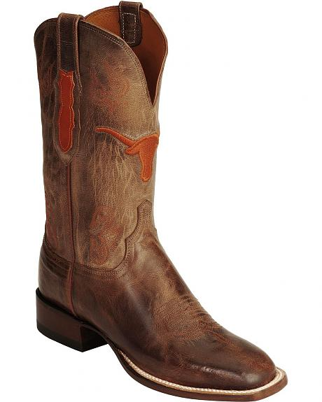 Lucchese Handcrafted 1883 University of Texas Boots - Square Toe