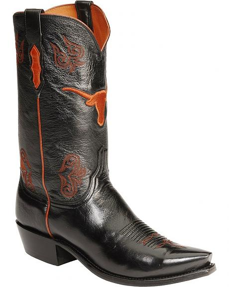 Lucchese Handcrafted 1883 University of Texas Lonestar Calf Cowboy Boots