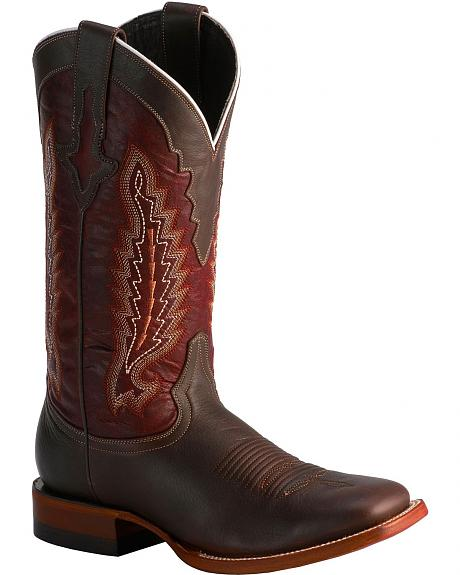 Lucchese 1883 Horseman El Campo Oiled Shoulder Cowboy Boots - Square Toe