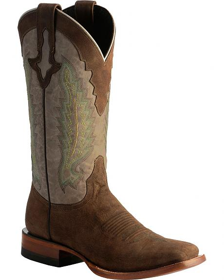 Lucchese 1883 Horseman El Campo Burnished Calf Cowboy Boots - Square Toe
