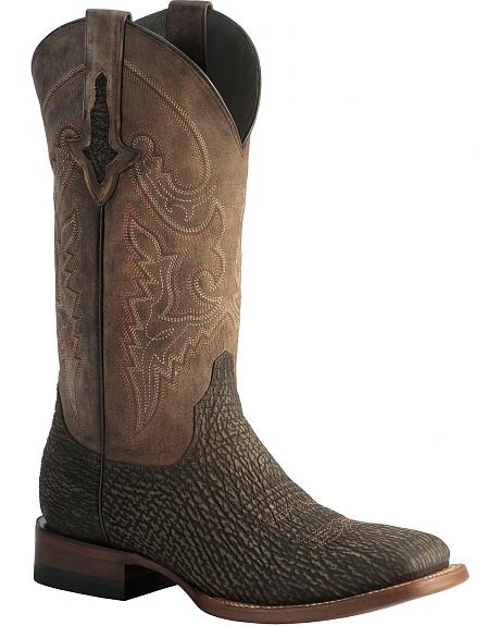 Lucchese 1883 Horseman Sanded Shark Cowboy Boots - Square Toe