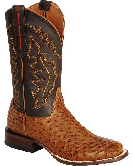 Lucchese Handcrafted 1883 Full Quill Ostrich Horseman Cowboy Boots