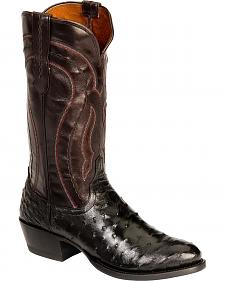Lucchese Handcrafted 1883 Full Quill Ostrich Drosseto Boots - Round Toe