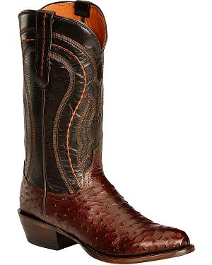 Lucchese Handcrafted 1883 Full Quill Ostrich Drosseto Boots