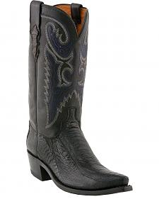 Lucchese Handcrafted 1883 Ostrich Leg Cowboy Boots - Snip Toe
