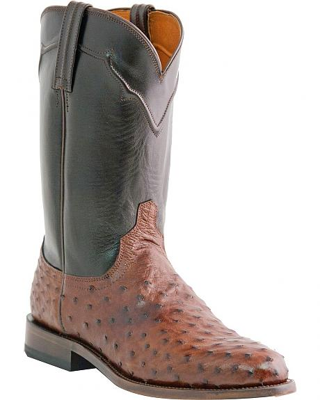 Lucchese Handcrafted Full Quill Ostrich Napoli Roper Cowboy Boots