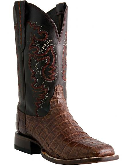 Lucchese Handcrafted 1883 Caiman Belly Cowboy Boots - Square Toe
