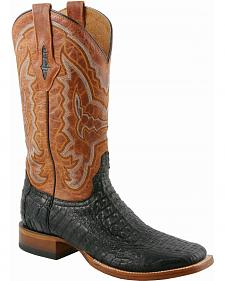 Lucchese Handcrafted 1883 Hornback Caiman Cowboy Boots - Square Toe