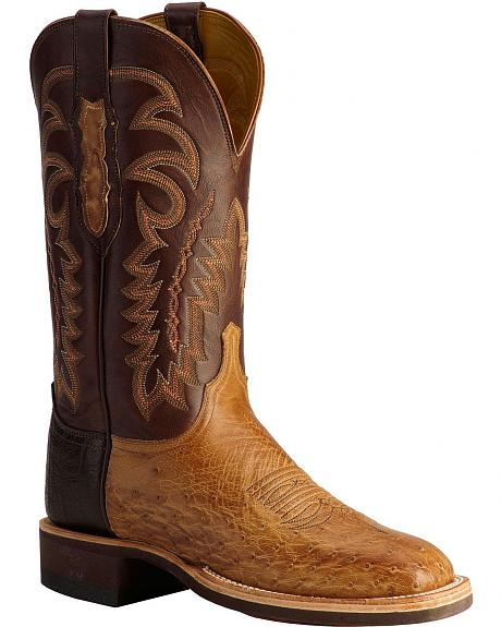 Lucchese Handcrafted 1883 Smooth Ostrich Cowboy Boots -- Square Toe