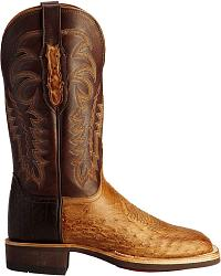 Lucchese Handcrafted 1883 Smooth Ostrich Cowboy Boots - Square Toe at Sheplers