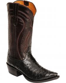 Lucchese Handcrafted Drosseto Full Quill Ostrich Cowboy Boots