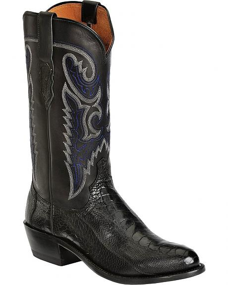 Lucchese Handcrafted 1883 Western Ostrich Leg Cowboy Boots - Round Toe