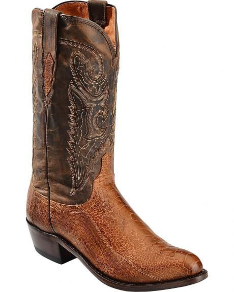 Lucchese Handcrafted 1883 Ostrich Leg Cowboy Boots - Round Toe