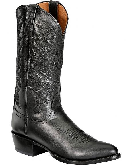 Lucchese Handcrafted 1883 Western Lone Star Calf Cowboy Boots - Round Toe