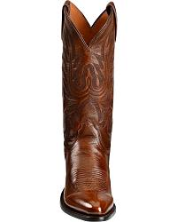 Lucchese Autumn Brown Western Lone Star Calf Cowboy Boots at Sheplers