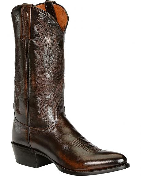 Lucchese Handcrafted 1883 Western Lone Star Calf Cowboy Boots - Pointed Toe