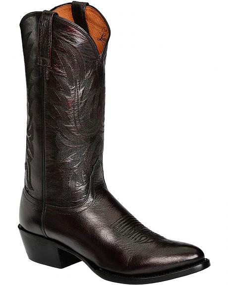 Lucchese Western Lone Star Calf Cowboy Boots - Round Toe