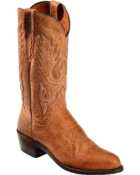Lucchese Handcrafted 1883 Tan Mad Dog Goatskin Cowboy Boots - Round Toe