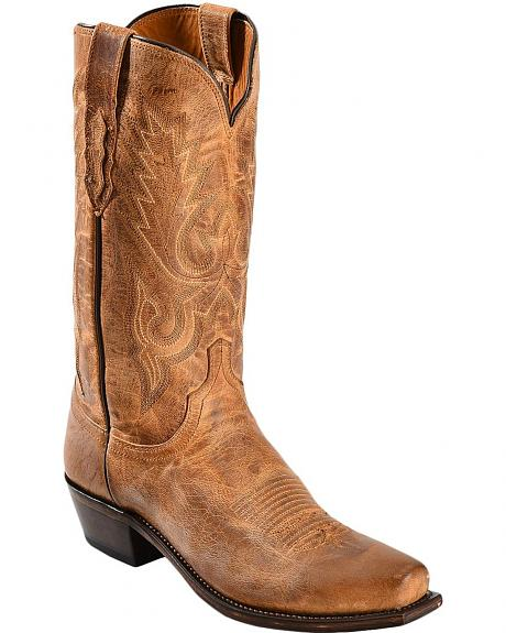 Lucchese Handcrafted 1883 Mad Dog Goatskin Cowboy Boots - Square Toe