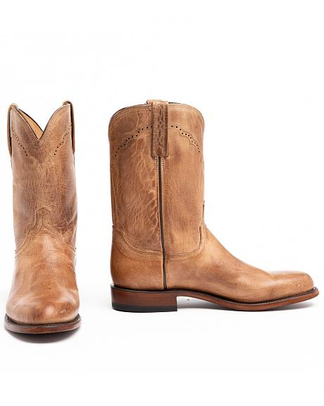 Lucchese Handcrafted 1883 Mad Dog Goatskin Roper Cowboy Boots - Round Toe