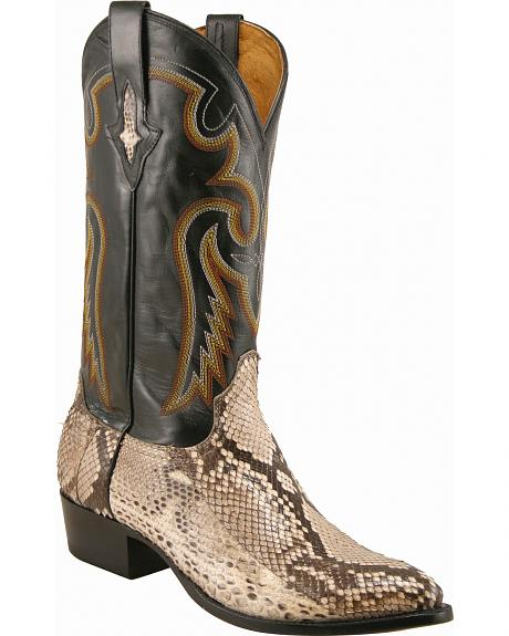 Lucchese Handcrafted 1883 Belly Cut Python Cowboy Boots