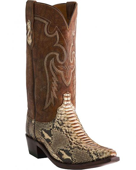 Lucchese Handcrafted 1883 Python Cowboy Boots - Snip Toe