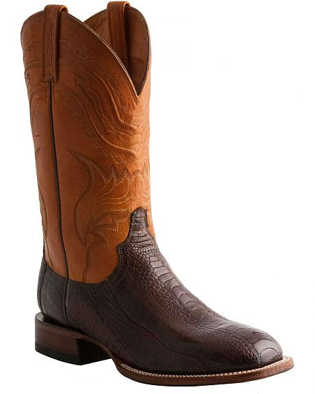 Lucchese Handcrafted 1883 Ostrich Leg Cowboy Boots - Square Toe