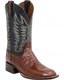 Lucchese Handcrafted 1883 Logan Caiman Belly Cowboy Boots - Leather Sole